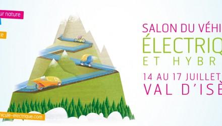 Salon de Val d'Isère  dernier jour pour tester la voiture électrique