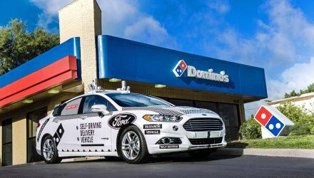 Ford Domino's Livraison voitures autonomes