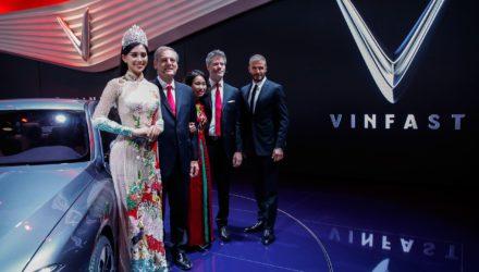 David Beckham launches VinFast at the Paris Motor Show