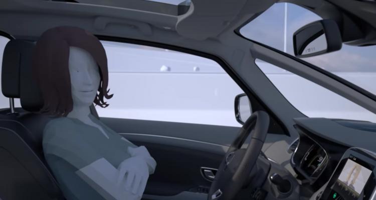 Voitures autonomes : Screenshot de la vidéo de présentation officielle de Renault pour son véhicule autonome.