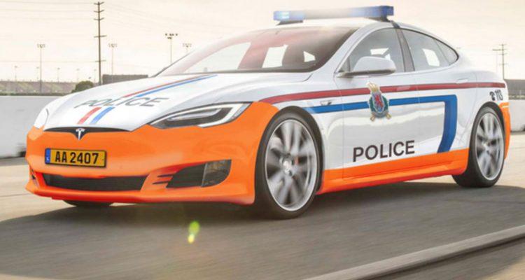 Tesla Model S police luxembourg