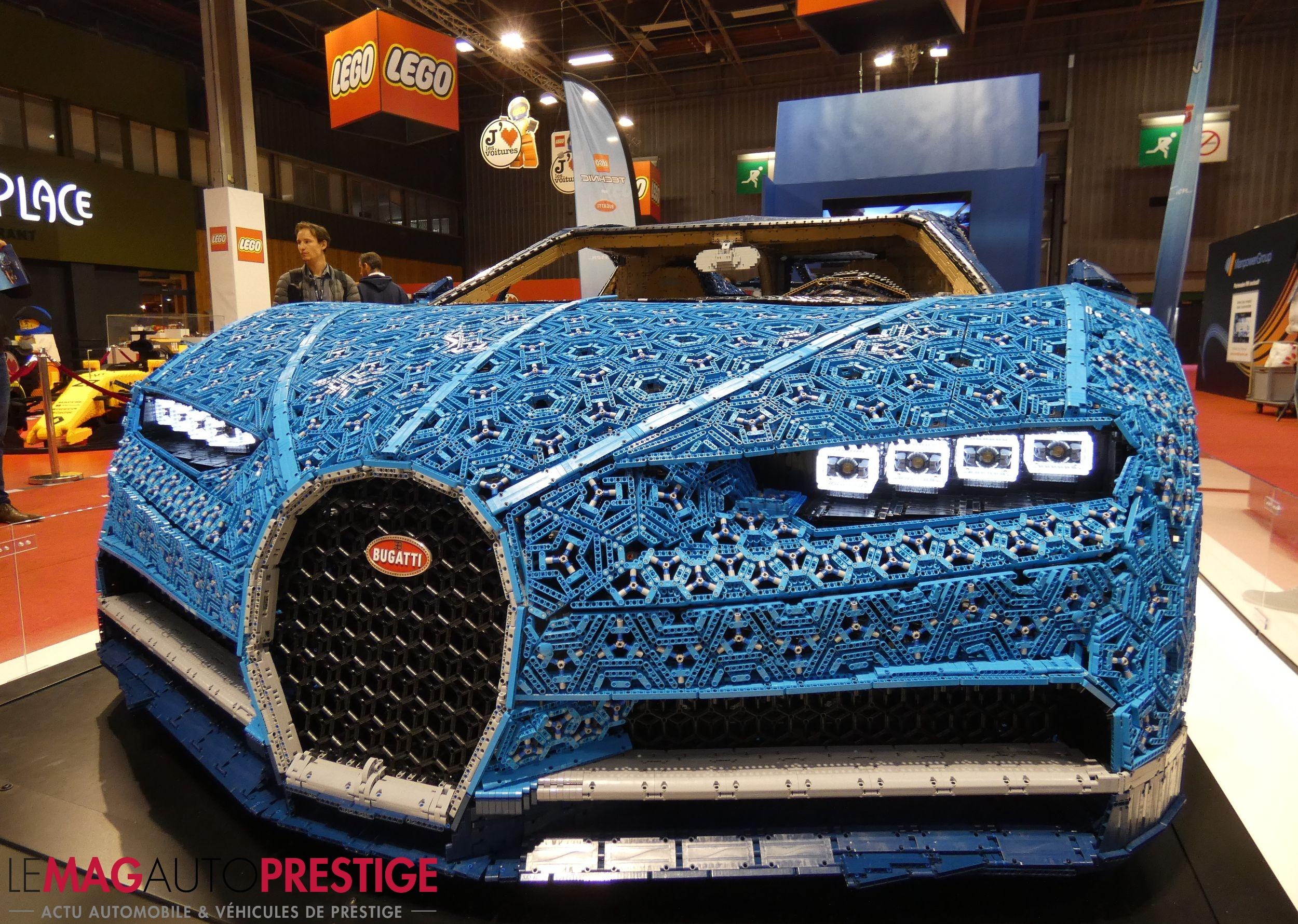 mondial de l 39 auto lego aime les voitures et la bugatti chiron le mag auto prestige. Black Bedroom Furniture Sets. Home Design Ideas
