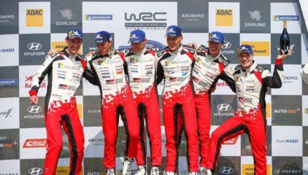 WRC Tänak remporte son 3e Rallye d'Allemagne avec un triplé Toyota !