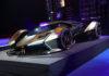 La Lambo V12 Vision Gran Turismo de Lamborghini lors de sa présentation à Monaco