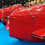Vue arrière des voitures de course du plateau Maserati