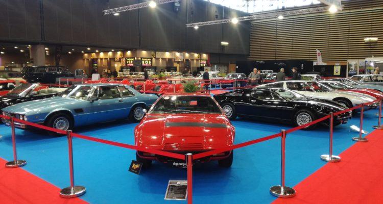 Le plateau Maserati à Epoqu'Auto