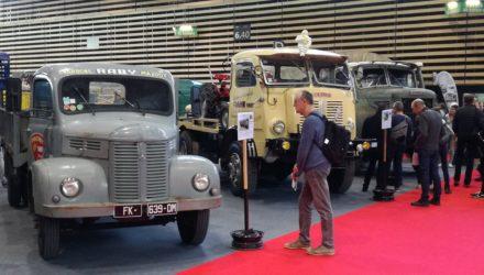 Epoqu'Auto: Une parte des camions Hotchkiss et Berliet du plateau utilitaires