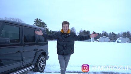 Un Youtubeur russe détruit son Mercedes-AMG G63 !