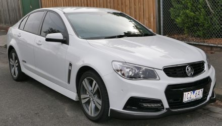 Holden Commodore blanche