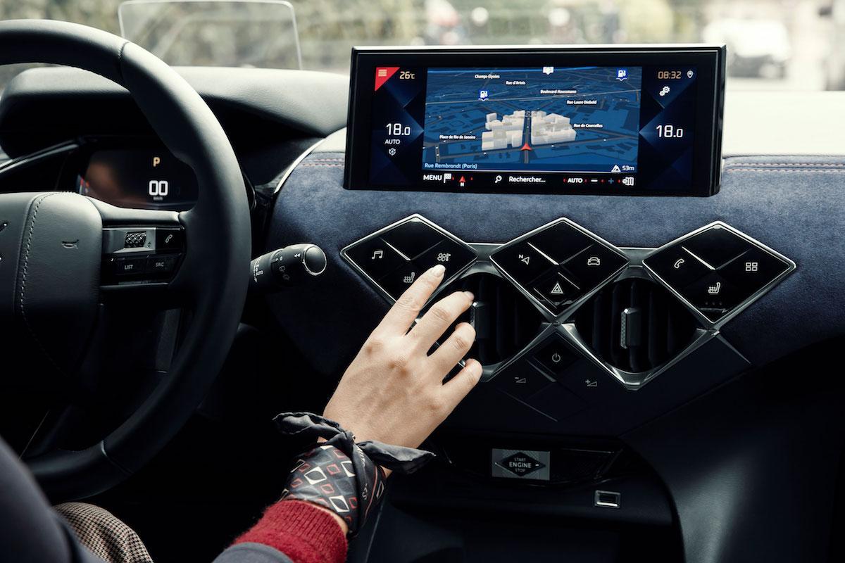 La tablette du véhicule