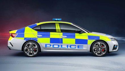 La Police britannique en Skoda Octavia RS !